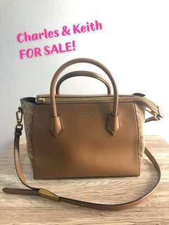 Charles & Keith 2way bag 100% authentic