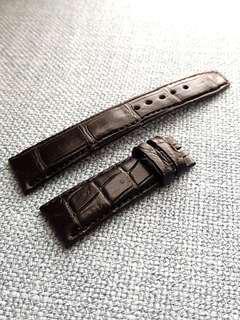 Genuine Crocodile belly 20mm Jet black watch strap for Rolex Omega JLC Grand Seiko etc