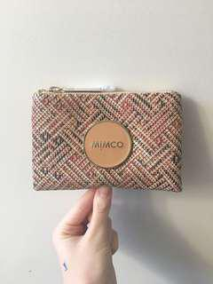 MIMCO pouch patterned