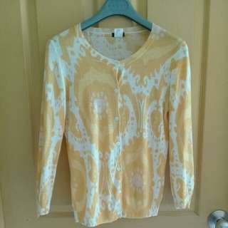 Yellow patterned sweater