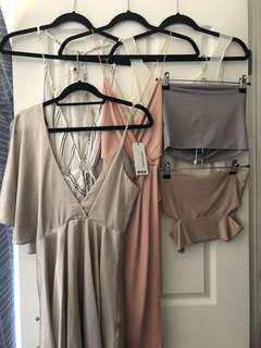 Bulk items - going out - dresses - Crop tops
