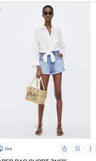 LOOKING FOR: Zara Z1975 Denim Paperbag Shorts in EU Size 36 / UK 8