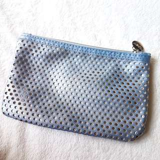 IPSY Perforated Silver Pouch