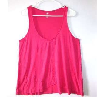 (L-XL) Joe Fresh overlapping Sleeveless top in relaxed and comfy fabric in almost looks new conditions