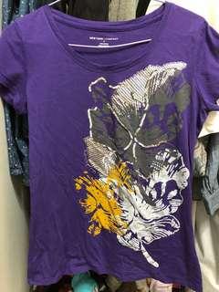 🚚 9成新new York company 紫色亮片上衣S