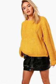 boohoo yellow mustard jumper