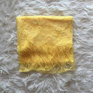 NEW! Selendang Lace Kuning (REPRICE)