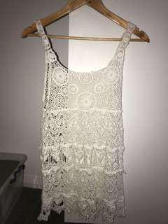 White croche dress