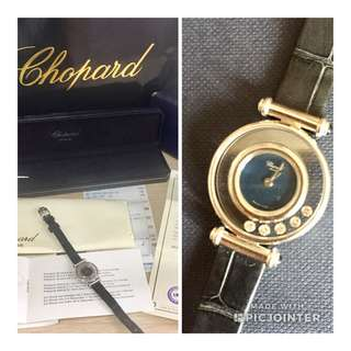 AUTHENTIC CHOPARD HAPPY DIAMOND WATCH WITH CERT AND BOX #GOGOVAN50