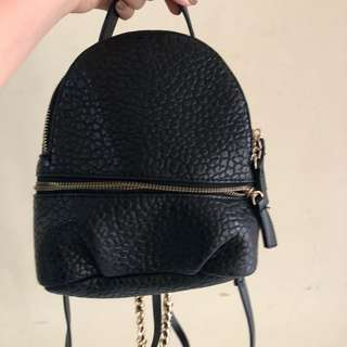 zara backpack ransel hitam