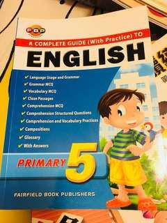 A) 星加坡英文練習 P.5(二手),B)中文 6下 (全新)
