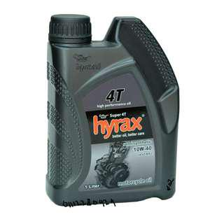 PROMOTION ENGINE OIL 4T RACING HIGH PERFORMANCE SEMI SYNTHETIC 10W-40 HYRAX OIL