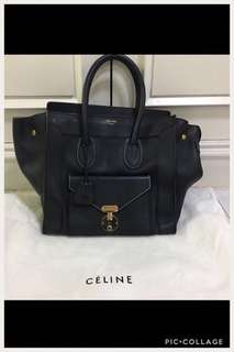 Authentic and limited edition Celine mini luggage envelope bag rare like new condition.