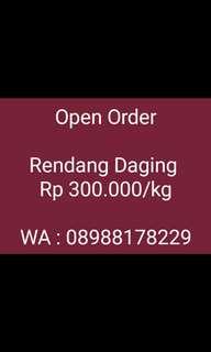 Open Order Rendang Daging Padang