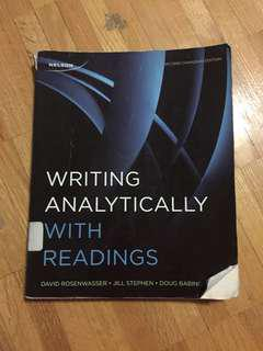 Writing Analytically with Readings - Second Canadian Edition