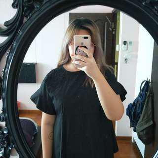 black formal / office lady ol top