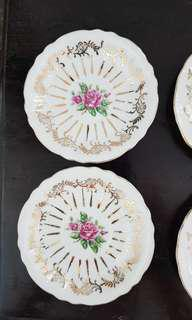Vintage plates for tea cups or small bites