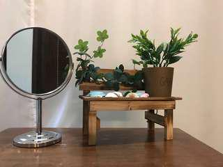 Silver Stainless Steel Table Mirror INSTOCKS