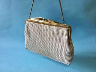 Vintage White Mesh Handbag Bag Clutch 古董晚裝手袋