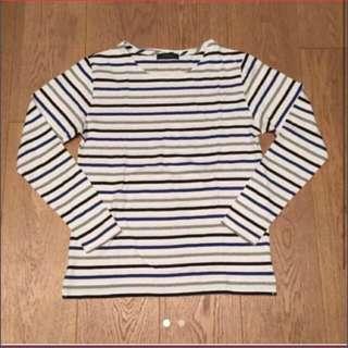 Rageblue black blue grey stripe long sleeves T-shirt