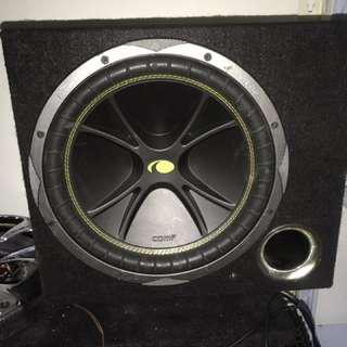 Kicker woofer for car with box