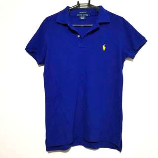 Authentic Ralph Lauren Electric Blue Skinny Polo Shirt