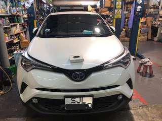 Vaitrix Throttle controller onto 2018 Toyota C-HR, 1.8 Auto Hybrid Synergy Drive.
