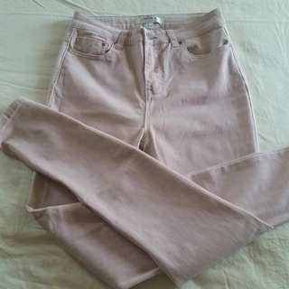 F21nude blush pink pants stretchy