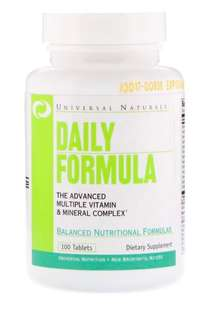 ❤️ Universal Nutrition, 每日配方,多維生素和礦物複合物,100片
