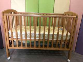 0/3 baby BB 床 (Troll Anna Cot) 天然復古木色 連 0/3 baby 床褥