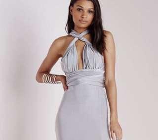 Grey blue maxi dress