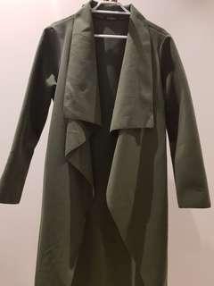 Khaki Boohoo Coat (Free Size)