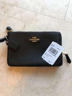 Authentic COACH double zip pouch