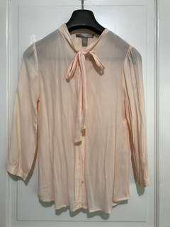 FOREVER 21 Contemporary Semi-sheer Long Sleeve Top