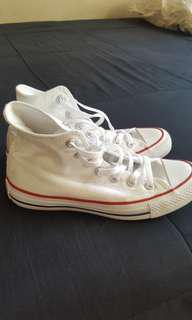 Converse white highcuts authentic