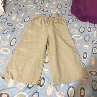 🚚 杏色 寬褲