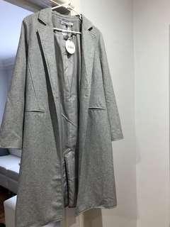 Grey coat size 8