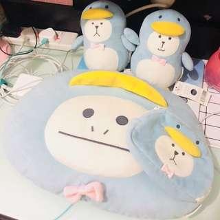 Cushion craftholic penguin soft toys bag