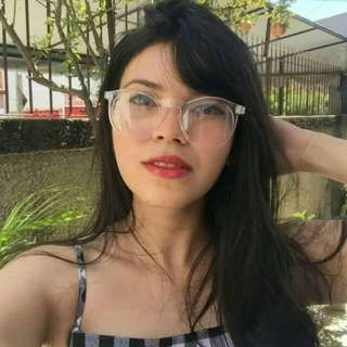 Kacamata bening Transparent Glasses