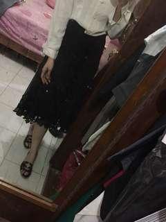 Brukat Semi Long skirt