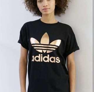ADIDAS AUTHENTIC GOLD foil T-shirt Shirt