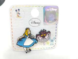 Disney Alice in Wonderland Alice and Cheshire earring studs