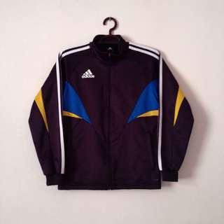 Adidas Bomber Jacket Outerwear Cobalt Blue Yellow Navy Women