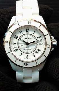 🚚 CHANEL 香奈兒 J12 H0970 White Ceramic 白陶瓷 自動上鏈 38mm 錶節齊全 97%新 (有現貨)