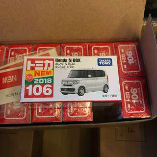 全新日版有貼 Tomica no.106 Honda N Box