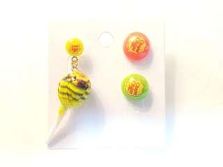 Chupa Chupa Lollies Lollie pop earrings and stud