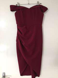 Jean Jail Maroon Cocktail Dress 8