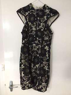 Laced Floral Cocktail Dress 8