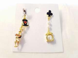 Disney Alice in Wonderland Rabbit Black outfit earrings