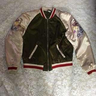 H&M 刺繡夾綿外套Bomber Jacket